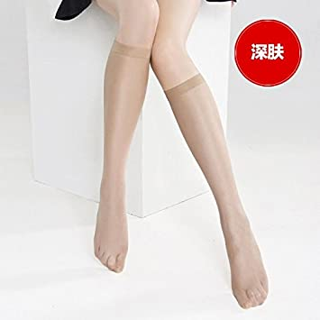 zhaoaiqin 10 Pares De Calcetines Mujer Ultraligero Sunscreen Calcetines Calcetines Largos Half-Colored Tubo De