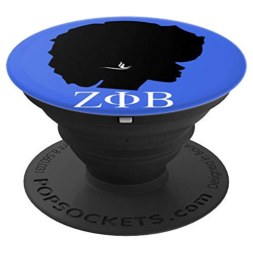 Zeta ZPB Sorority Phi PopSocket Grip for Beta 1920 Diva - PopSockets Grip and Stand for Phones and ()