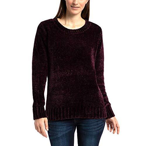 Orvis Chenille - Orvis Women's Chenille Pullover Sweater, Variety - (Plum, Small)
