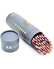 (48) - 48 Professional Grade Oil Based Coloured Pencils For Artist Including Skin tone Pencils For Colouring Drawing And Sketching (48)