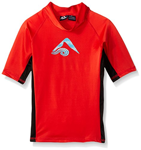 Kanu Surf Big Boys' Halo UPF 50+ Sun Protective Rashguard, Red, Large (14/16) (Halo Suits For Kids)