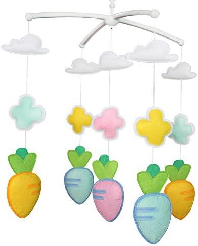 赤ちゃんの注意、野菜を保持するミュージカル玩具ベビーベッドモバイルハンギングベル