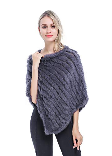 MEEFUR Real Rabbit Fur Shawls Women's Warm Knitted for sale  Delivered anywhere in USA