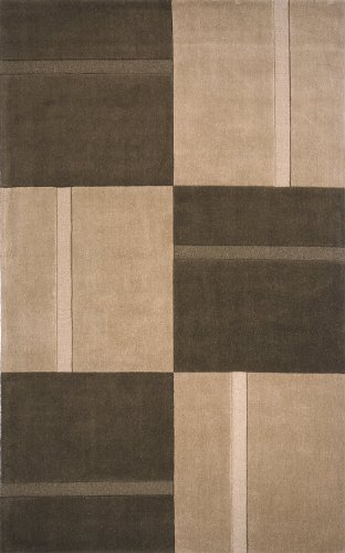 Momeni Rugs METROMT-18BRN3353 Metro Collection, 100% Wool Hand Loomed Contemporary Area Rug, 3'3