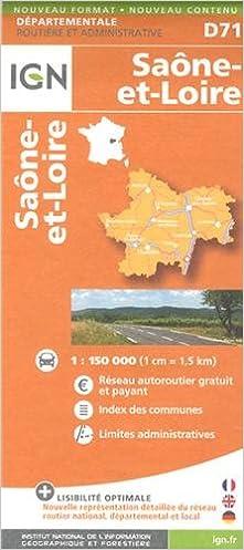 Ebooks téléchargements audio D71 SAONE-ET-LOIRE  1/150.000 PDF