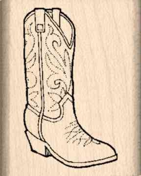 Amazon.com: Cowboy Boot Rubber Stamp – 1 inch x 1-1/4 inches: Arts ...