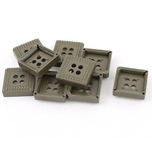 Plcc Ic Socket - eDealMax 10 Pezzi PLCC68P IC Sockets PLCC 68 pin DIP Through Hole montaggio Brown