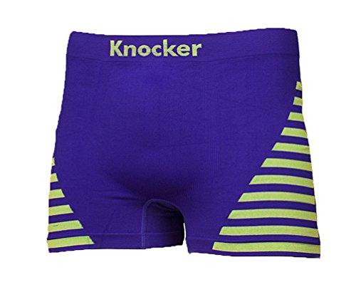 6 Pk Men's Seamless Athletic Boxer Briefs Shorts Underwear Knocker One Size (Style 1)