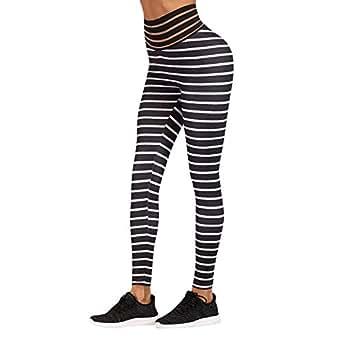 💗Weant💗Mallas Deportivas Mujer Pantalones Rayas Cintura ...