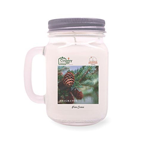 Country Jar Pine Cones Soy Candle (14 oz. Mason-Carry Jar) [+] 15%-20% Off Entire Catalog! Mix or Match!