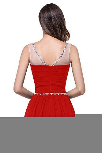 Babyonline® Cocktailkleider Chiffon Partykleider Brautjunfernkleider Pailletten Abendkleider Mit Rot Damen Lang Ballkleid zrHxqzSB