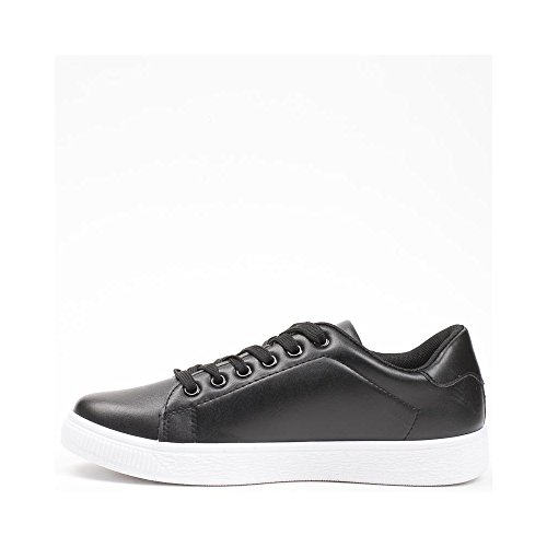 Ideal Shoes, Damen Sneaker Schwarz