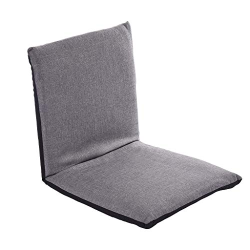 Gotian Adjustable Padded Floor Sofa Chair, 6-Position Multiangle Padded Floor Chair, Cushioned Back Support Versatile, Video Game Chairs for Meditation Seminars Reading TV Watching or Gaming