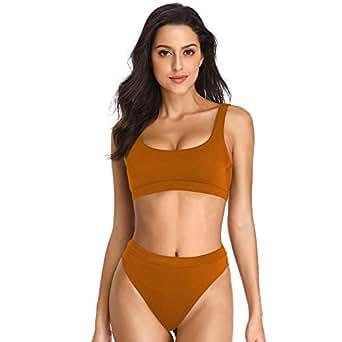 fa83f2026aef9 Amazon.com  Dixperfect Two Pieces Bikini Sets Swimsuit Sports Style ...