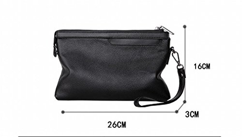 Bag Zipper Men's Large Black Package card held Multi Soft Leisure Business capacity Hand Zb Clip O8dwg8q
