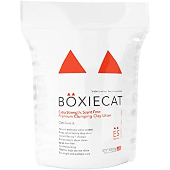 Boxiecat Extra Strength Premium Clumping Clay Cat Litter, 16 lb