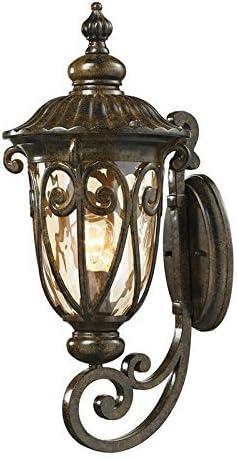 ELK Lighting 45071 1 Logansport Collection 1 Light Outdoor Sconce, 22 x 10 x 11 , Hazelnut Bronze