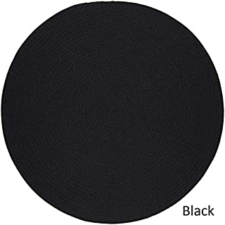 product image for Rhody Rug Woolux Wool l Braided Rug (10' Round) Black