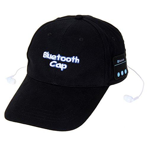 Vanpower Wireless Bluetooth Sports Baseball Cap Canvas Hat Music Speaker Handsfree (Black)