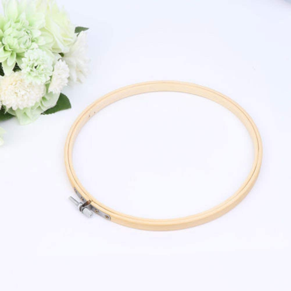 Embroidery Hoop 13-34cm Cross Stitch Machine Ring Bamboo Sewing Tool Flowery