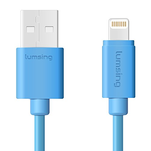 Lumsing Lightning to USB Cable Apple Certified Sync and Charging Cord(3.3 Feet/1M) with Ultra Compact Connector Head for iPhone, iPod and iPad(Blue) by Lumsing
