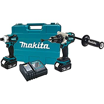 Makita XT252T 18V LXT Lithium-Ion Brushless Cordless Combo Kit, XPH07, XDT01, 2-Piece (Discontinued by Manufacturer)