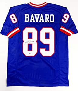 Mark Bavaro Autographed Blue Pro Style Jersey - Beckett Auth 8 at ...