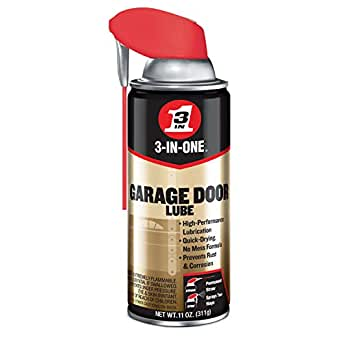 3-IN-ONE Professional Garage Door Lubricant with Smart StrawSprays 2 Ways, 11 OZ
