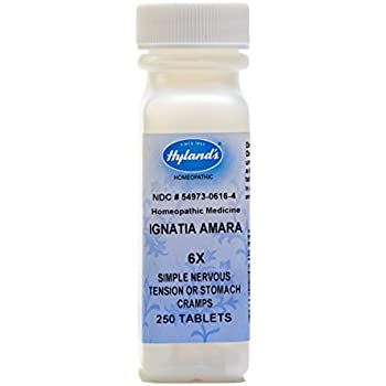Hylands Ignatia Amara 6X Tablets, Natural Relief of Simple Nervous Tension or Stomach Cramps, 250 Count