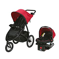 Whether you're going for a stroll through the park or jogging to grab some groceries, the Graco RoadMaster Jogger Travel System Infant Stroller will help get you and your little one to and from. Perfect for infants and toddlers weighing 35 po...