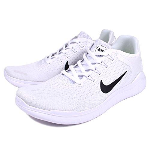 Nike Herren Free RN 2018 Weiß Mesh Laufschuhe Weiß (White/Black)