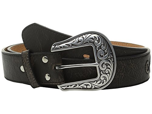 - Nocona Women's Raised Scroll Design Belt, Black, M
