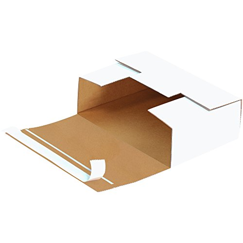 Cardboard 1 (Boxes Fast BFMM1005 Self-Seal Corrugated Cardboard DVD Mailers, 7 11/16 x 5 7/16 x 2 7/16 Inches, One Piece Shipping Boxes, Capacity 1-4, Small White Mailing Boxes (Pack of 200))