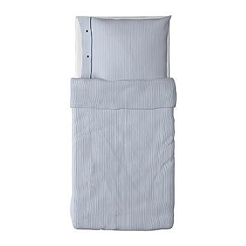 Ikea 2tlg Bettwäsche Set Nyponros Blau Weiß Gestreift In