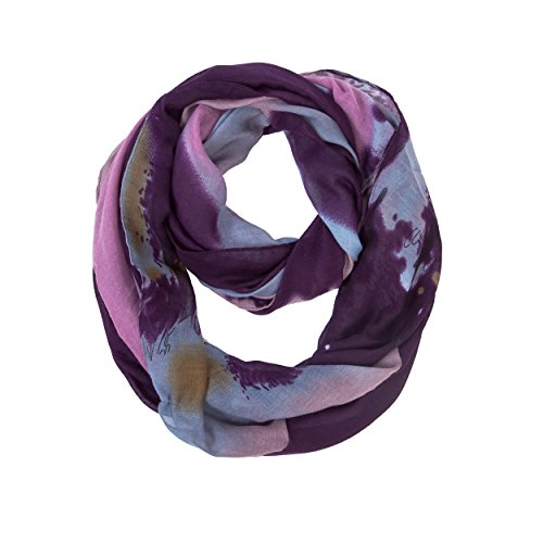 Infinity Flower (Women Lightweight Winter Warm Purple Infinity Circle Loop Scarfs(Purple Infinity))