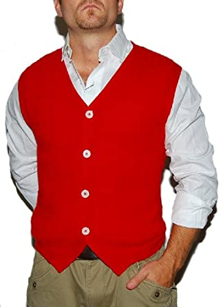 Polo Ralph Lauren Mens Cable Cashmere Itay Sweater Vest Cardigan Red ... a56d734c3