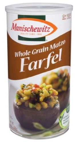 Manischewitz Whole Grain Matzo Farfel Canister, 14-ounces (Pack of 6) by Manischewitz