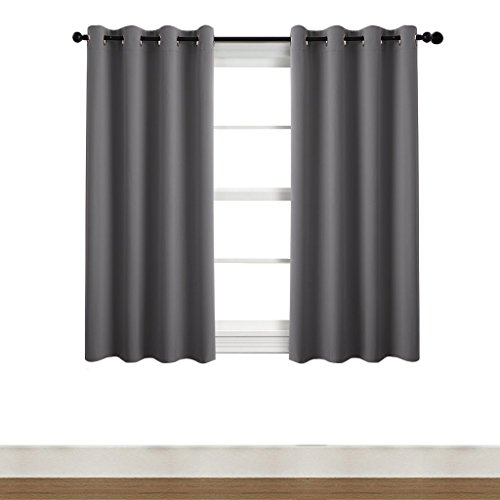NICETOWN Living Room Blackout Curtain Panels - (Grey color) 52