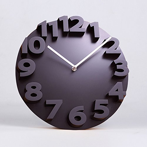 simple creative modern wall clock/Living room stereo clock/ large wall charts/ fashion digital art forms-A 14inch