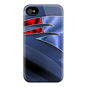 Personalized For Iphone 4/4S Cover ell phone Case/Cover Skin 1072 new england patriots Black