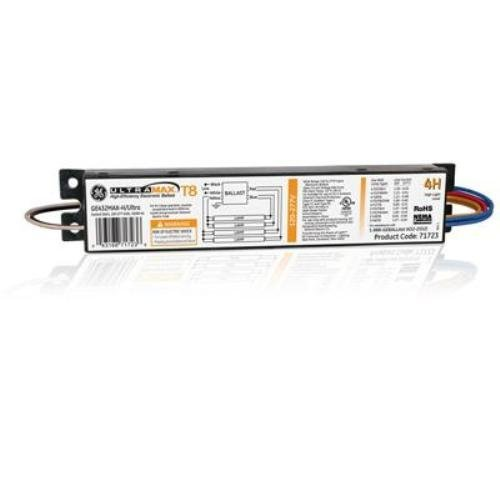 (Case of 10) GE Lighting 71723 GE432MAXP-H/ULTRA 120/277-Volt UltraMax Electronic Fluorescent T8 Multi-Volt Instant Start Ballast 4 F32T8 Lamps