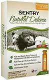 Dog Flea Treatment Collar - SENTRY Natural Defense Flea & Tick Squeeze-On Dog 15-40lb 4 month