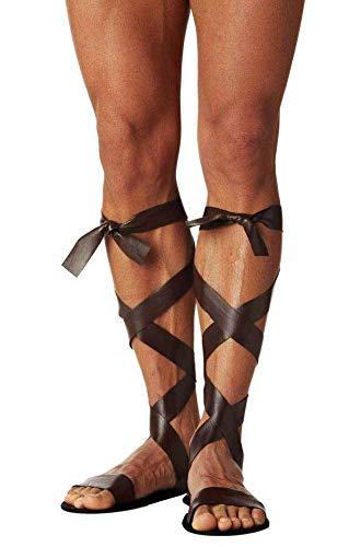 Greek Roman Warrior Spartan Soldier Toga Sandals Costume Accessory Adult Mens -