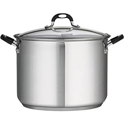 18/10, 16-Quart Dishwasher Safe Stainless Steel Covered Stockpot, Silver