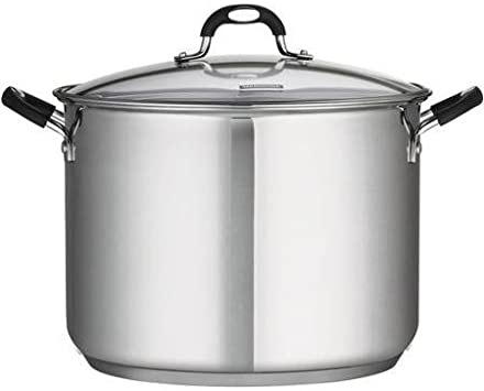 18 10, 16-Quart Dishwasher Safe Stainless Steel Covered Stockpot, Silver