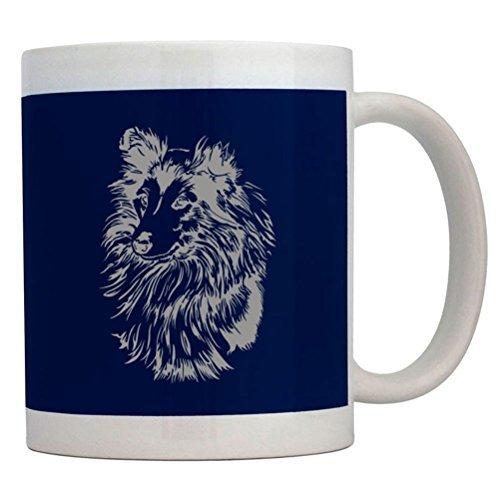 Fuuny Coffee Mugs Shetland Sheepdog FACE SPECIAL GRAPHIC Mug