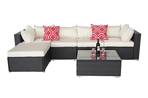 Do4U Patio Sofa 6-Piece Set Outdoor Furniture Sectional