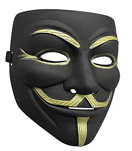 ZLLJH Lot V for Vendetta Mask White Guy Fawkes Anonymous Party Masker Dress -