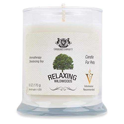 Wildwoods (Cedarwood & Vanilla) Aromatherapy Deodorizing Soy Candle for Pets, Candles Scented, Pet Odor Eliminator & Animal Lover Gift - 6 OZ (170 g) ()