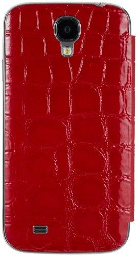 Anymode Samsung Galaxy S4 Me-in Mirror Flip Cover Folio Case (Red Crocodile)